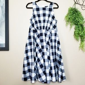 Lane Bryant | Gingham Fit & Flare Swing Dress